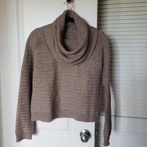 Cowl Neck Chunky Sweater Top